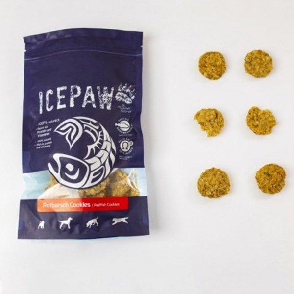 ICEPAW Rotbarsch Cookies – ciasteczka z karmazyna (100g)
