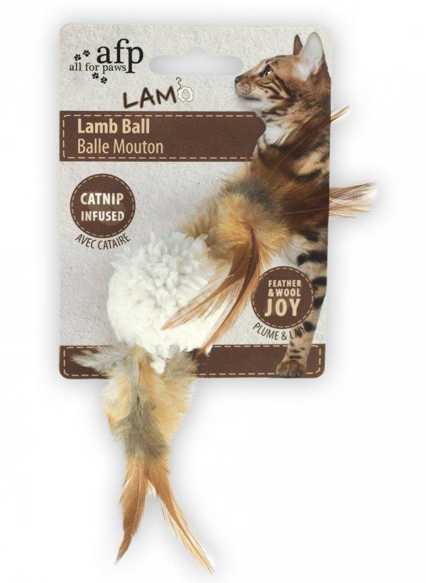 LAMBSWOOL Piłeczka z dźwiękiem ptaka i kocimiętką