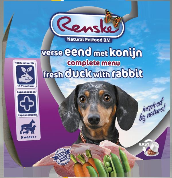 Renske Dog Adult fresh meat duck and rabbit – świeże mięso kaczka i królik dla psów 100g