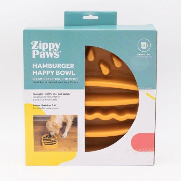 ZippyPaws miska spowalniająca HAMBURGER 950 ml