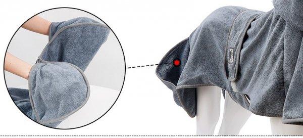 Ręcznik - szlafrok dla psa M