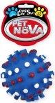 Pet Nova 1359 Piłka jeż z wypustkami 8,5cm, niebie