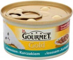 Gourmet Gold 85g łosos i kurczak w sosie