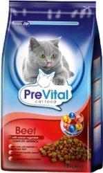 PreVital 10728 sucha dla kota 1,8kg Wołowina Warzy