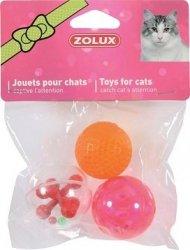 Zolux 580135 Zabawki dla kota 3 kule 4 cm*