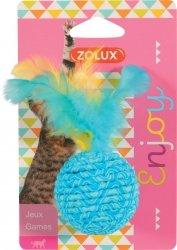 ZOLUX 580713 Zabawka dla kota piłka z piórkami 5cm