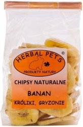 Herbal Pets 4562 Chipsy Natural - Banan 75g