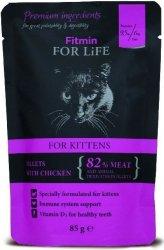 Fitmin Cat 85g For Life saszetka Kitten chicken