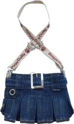 Dolly C109-S Spódniczka z szelkami jeans 23-25cm