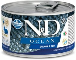 ND Dog 2222 Adult Mini 140g Ocean Salmon Codfish