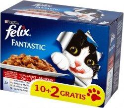 Felix Fantastic 12x100g Multipack Mięsny saszetki