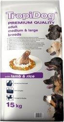Tropidog 57058 Premium Adult M&L Lamb&Rice 15kg