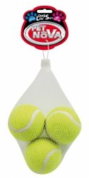 Pet Nova 1468 Piłki tenisowe piszczące 3szt
