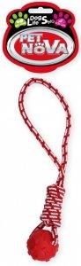 Pet Nova 2264 Piłka na sznurze 40cm przeci czerwon