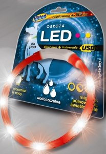 Hilton 002-00 obroża silikon LED 1,4x0,8cmx55 USB