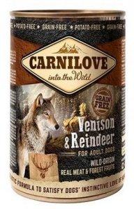 Carnilove Dog 1655 Wild Meat Venson&Reindeer 400g
