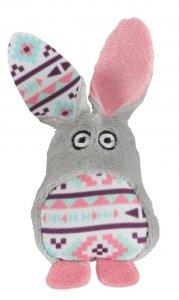Zolux 580730GRI Zabawka dla kota Kali królik szara