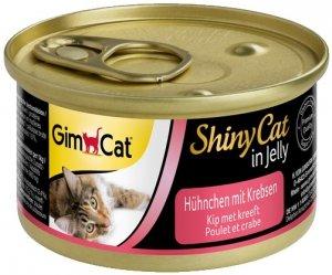 Gimcat 413136 Shiny Cat Kurczak i Kraby 70gr