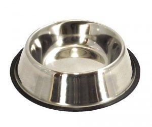 LupiPets Miska 1,8L metalowa dla psa na gumie