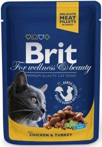Brit 6019 Premium Cat 100g Kurczak Indyk saszetka