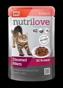 Nutrilove Cat 11455 saszetka 85g wołowina sos