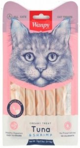 Wanpy 1095 Przysmak Tuńczyk Krewetki 70g dla kota