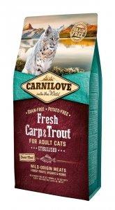 Carnilove Cat 7465 Fresh Carp & Trout Sterilis 6kg
