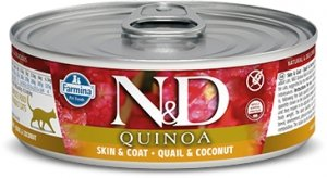 ND Cat 2161 Adult 80g Quinoa Skin&Coat Quail