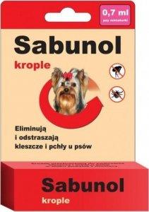 Sabunol 0691 Krople przeciw pchłom kleszczom 0,7ml