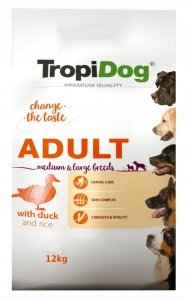 Tropidog 57017 Premium Adult M&L Duck&Rice 12kg