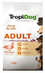 Tropidog 57017 Premium Adult M&L Duck&Rice 12kg