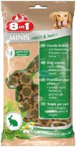 8in1 122760 Przysmak Minis rabbit&herbs 100g