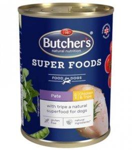 Butcher's 3723 Superfood Tripe Kurczak 400g paszte
