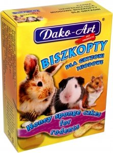 Dako-Art 383 Biszkopty miodowe 50g dla gryzoni