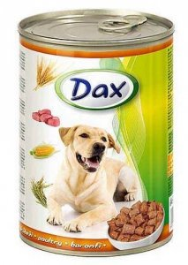 Dax 10081 puszka dla psa 1240g z Drobiem