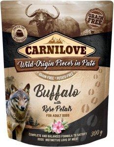 Carnilove Dog 7716 pouch Wild Buffalo & rose 300g