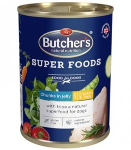 Butcher's 3709 Superfood Tripe,Kurczak 400g gal