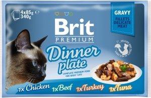 Brit Cat Fillet Dinner Plate 4x85g saszetki sos