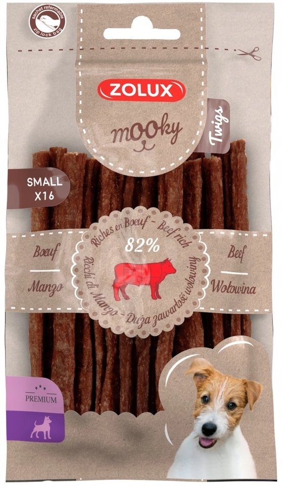 Zolux 482139 MOOKY Twigs wołowina S x16szt