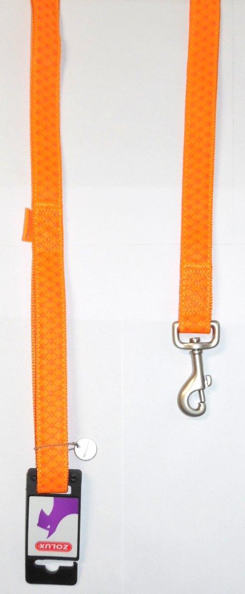 Zolux 435166ORA Smycz Mac Leather 10mm/1,2m orange
