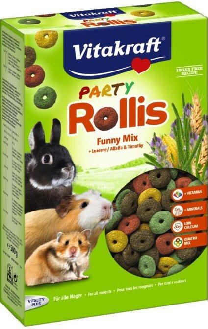 Vitakraft 2470 Party Rollis Funny Mix 500g