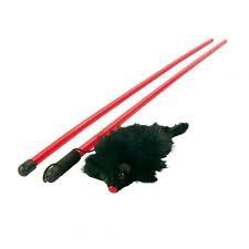Trixie 4105 Zabawka Mysz w futerku na wędce