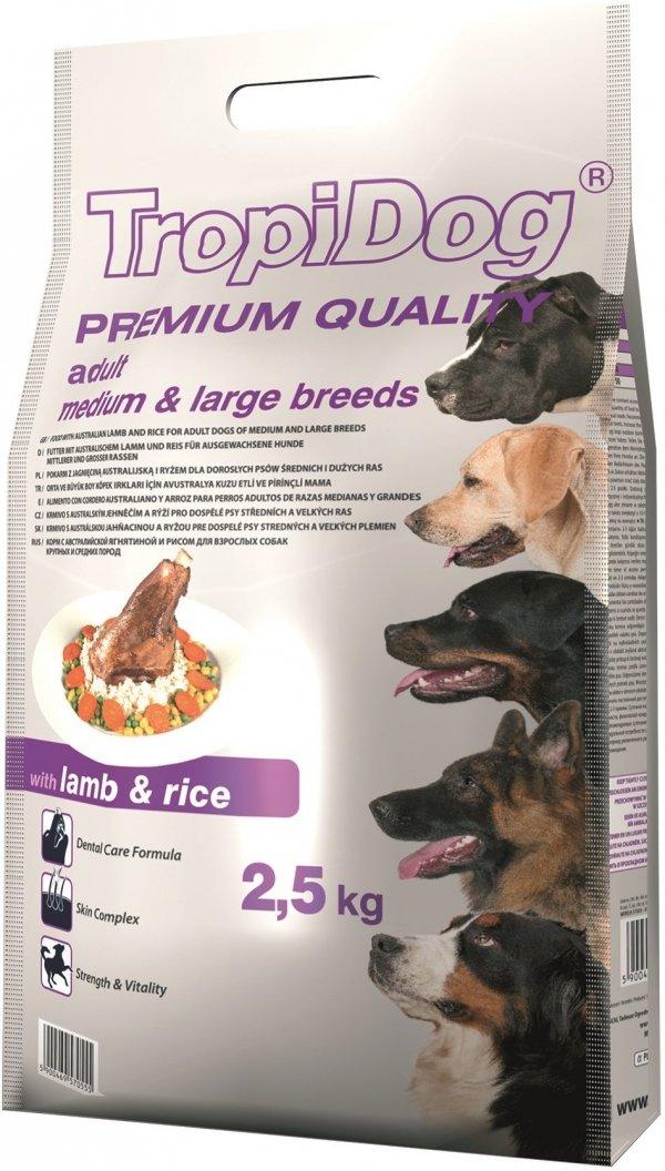Tropidog 57055 Premium Adult M&L Lamb&Rice 2,5kg