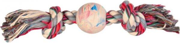 Trixie 3267 Piłka gumowa 7,5cm ze sznurkiem
