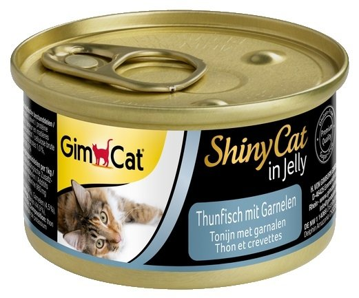 Gimcat 413099 Shiny Cat Tuńczyk Krewetki 70g kot