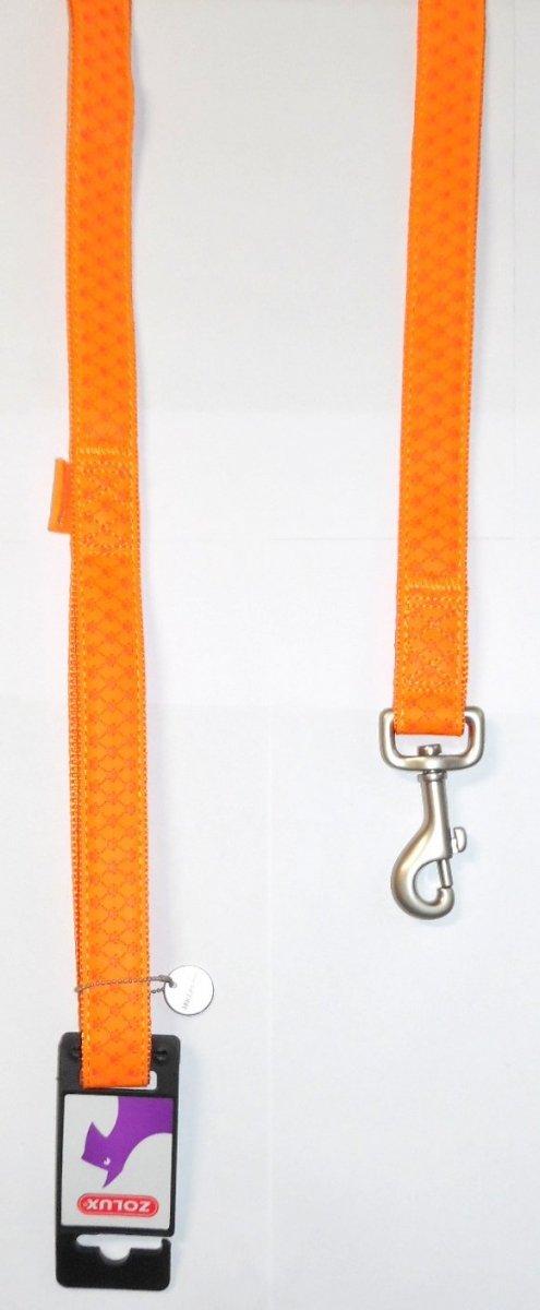 Zolux 435167ORA Smycz Mac Leather 15mm/1,2m orange