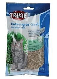 Trixie 4233 Trawa dla kota w woreczku 100g