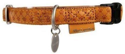 Zolux 522035JA Obroża Mac Leather 15mm ŻÓLTY
