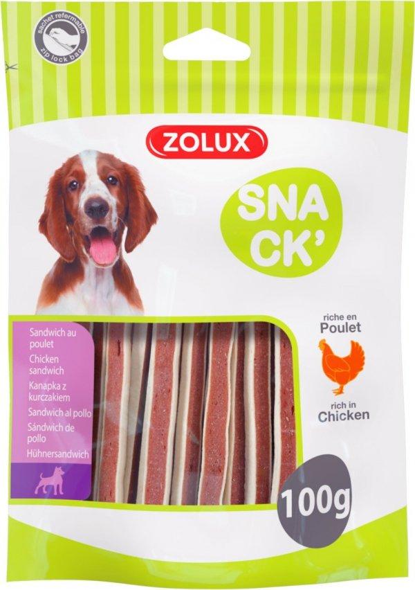 Zolux 482785 Kanapka dla psa z kurczakiem 100g