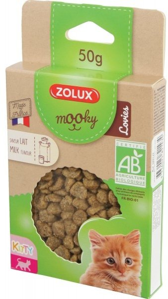 Zolux 582143 MOOKY BIO Cat z mlekiem kitty 50g